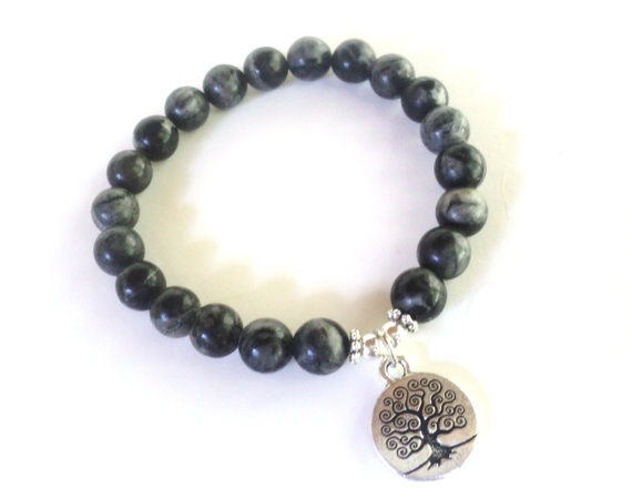 Tree of Life Mala Bracelet Picasso Jasper by BohemianEarthDesigns, $22.95