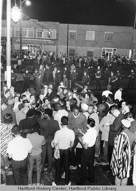Demonstration in Barry Square, Hartford, 1967 by Connecticut History Online, via Flickr