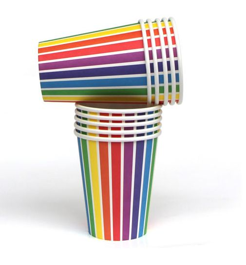 Colour us happy, it's a pack of fabulous rainbow designed paper cups!  #partyware #partycups #cups #event #styling #partyshop #partydecor #firstbirthday #wedding #engagement #bridalshower #babyshower #christening #teaparty #partytheme #paper #eventplanning #designerkids #designerbaby #homewares #designer #style #love #food #partyinspo #littlebooteekau #rainbow #colour #stripes