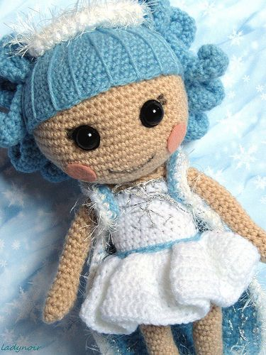 Lalaloopsy Ivory Ice Crystals crochet Doll.....for Grace  :-)