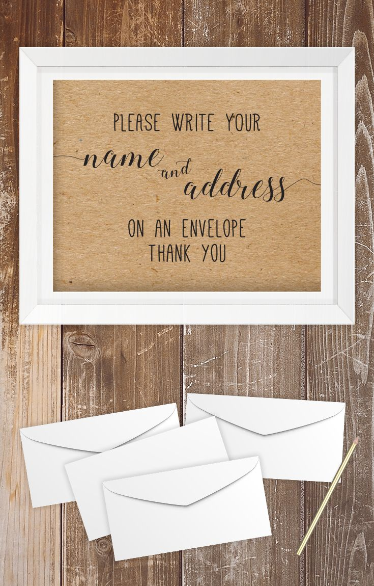 games to play at couples wedding shower%0A Bridal Shower Address Envelope Sign   Please Write Your Address on An  Envelope Sign   Please Write Your Address   Write Your Address