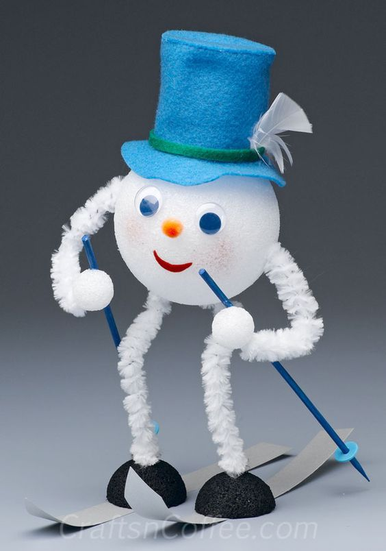 It may be hot outside, but this little Skiing Snowman is ready for a downhill run. For a little frosty fun on a hot, summer day, Kathleen George shares a tutorial to make this refreshing Skiing Sno...