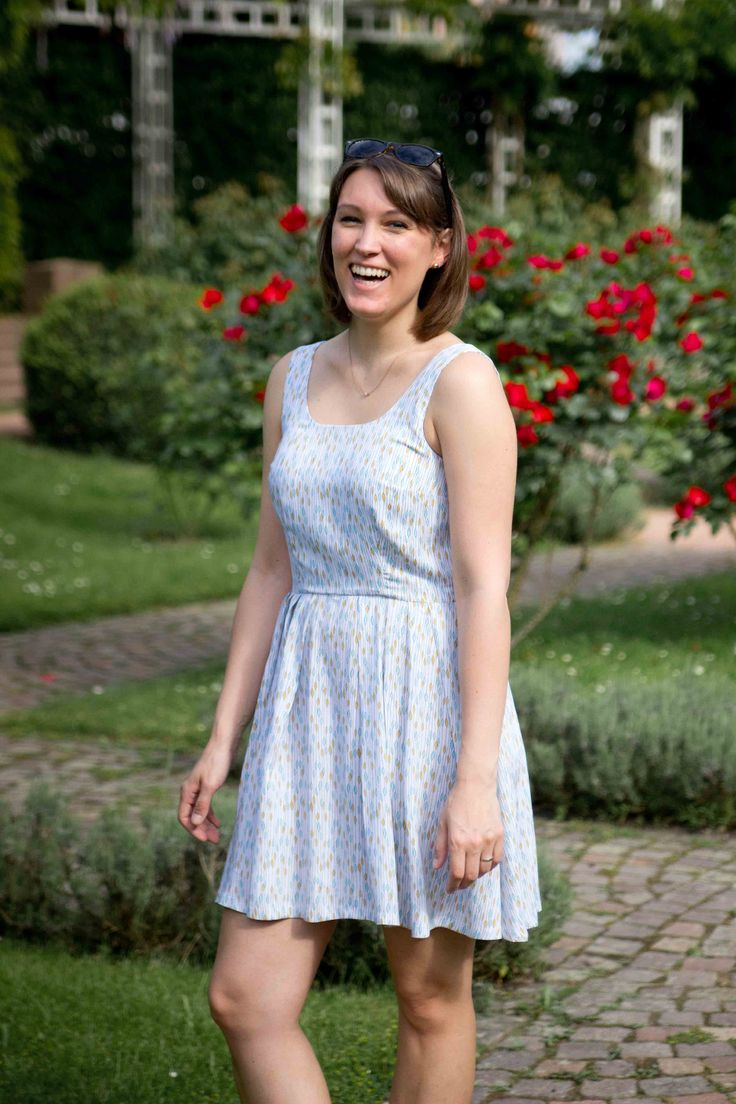 Nina's Lilou dress - sewing pattern in Love at First Stitch