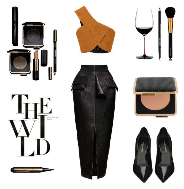 """""""Untitled #566"""" by tenindvr ❤ liked on Polyvore featuring Maticevski, Rosetta Getty, Yves Saint Laurent, Estée Lauder, Victoria Beckham and Riedel"""