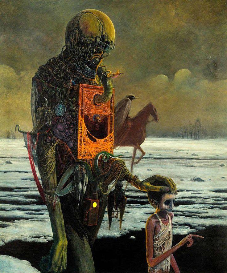 """Beksinski, """"AF75"""" - 1975, 87 x 70 cm"""