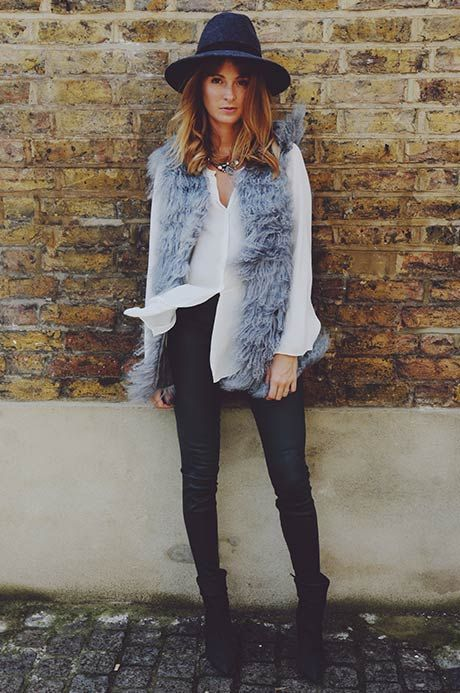 Millie Mackintosh spotted in our amazing Mongolian fur gilet. #riverisland