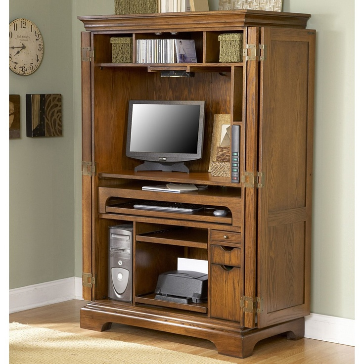 Awesome Riverside Home Office Computer Armoire 75833 At Tyndall Furniture