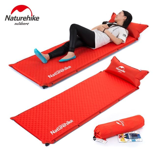 Naturehike Automatic Inflatable Sleeping Pad Camping Mat Self Inflating Splicing Thick Travel Air Mattress T Camping Sleeping Pad Camping Mat Tent Camping Beds