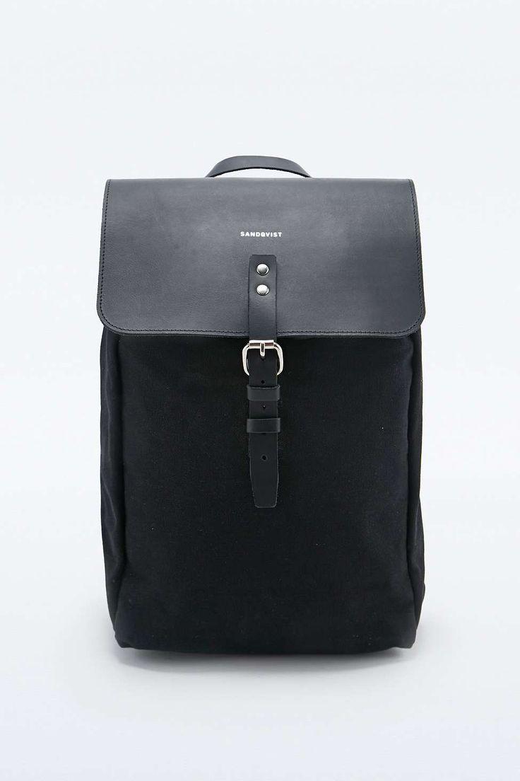 "Sandqvist – Rucksack ""Alva"" in Schwarz Ebags BackPack Tumblr | leather backpack tumblr | cute backpacks tumblr http://ebagsbackpack.tumblr.com/"