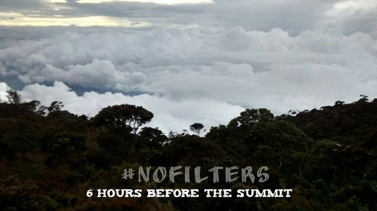 Clouds and nothing more for a view in Borneo!