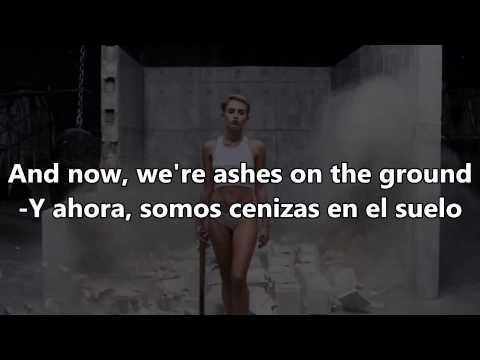 Miley Cyrus Wrecking Ball Español English Lyrics Youtube Miley Cyrus Miley Wrecking Ball