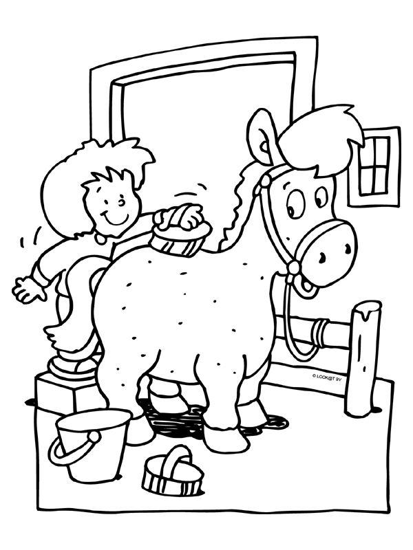 Paarden Masker Kleurplaat 145 Best Images About Thema Paarden Kleuters Horse Theme