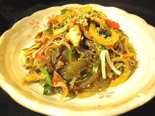 チャプチェの作り方(レシピ)ーー 華やかな彩りでお祝いの日を盛り上げます^^  | 韓国料理店に負けない韓国家庭料理レシピ「眞味」
