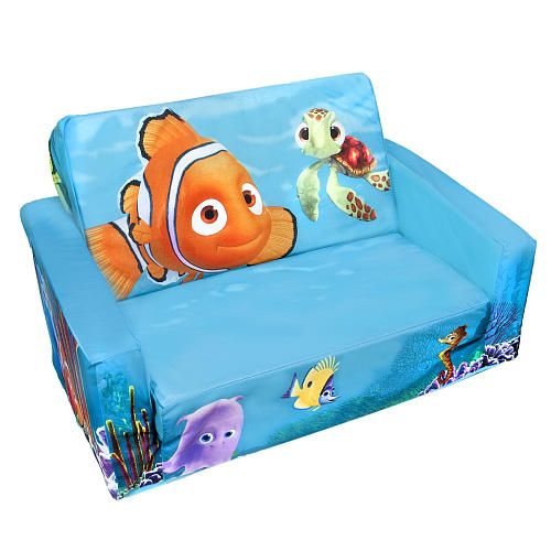 Toddler Flip Out Sofa Couch Replacement Mattress For Queen Sleeper Open W Slumber Nemo | Baby Boy Themes ...