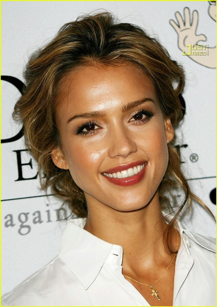 Jessica Alba - I've always thought she was gorgeous. Really fit, too, which is awesome! I don't know anything about her personal life, but I'm going to go out on a limb & say that's a good trait for a celebrity :)