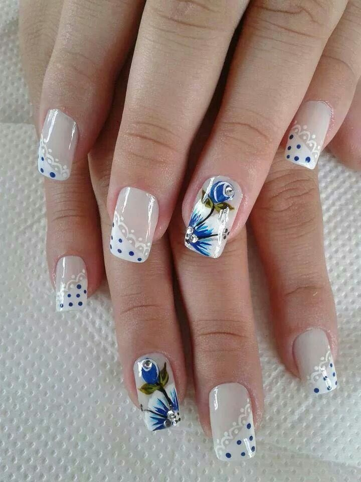 523 best Flower Nail Designs images on Pinterest | Cute nails ...