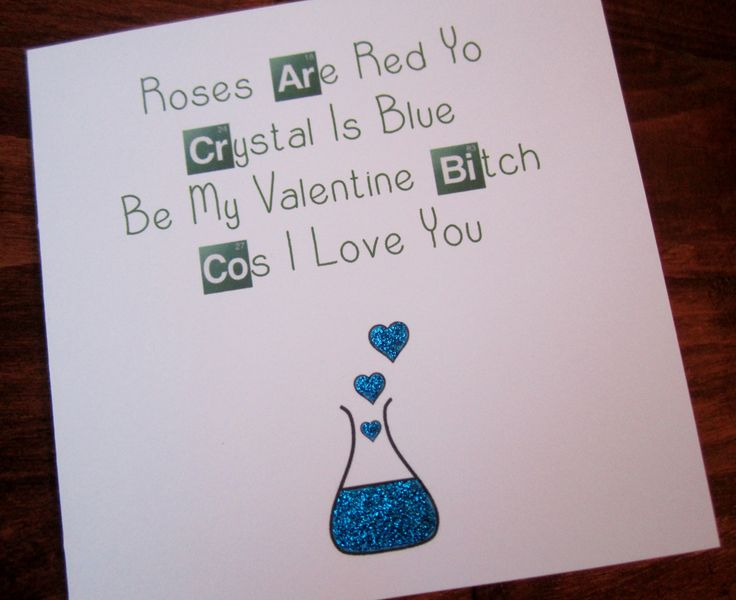 Breaking Bad Valentine Card http://www.ebay.co.uk/itm/Handmade-Breaking-Bad-Inspired-Valentine-Card-/181636542550?