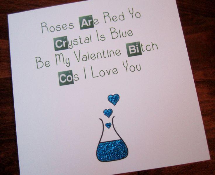 Breaking Bad Valentine Card http://www.ebay.co.uk/itm/Handmade-Breaking-Bad-Inspired-Valentine-Card-/181636542550?