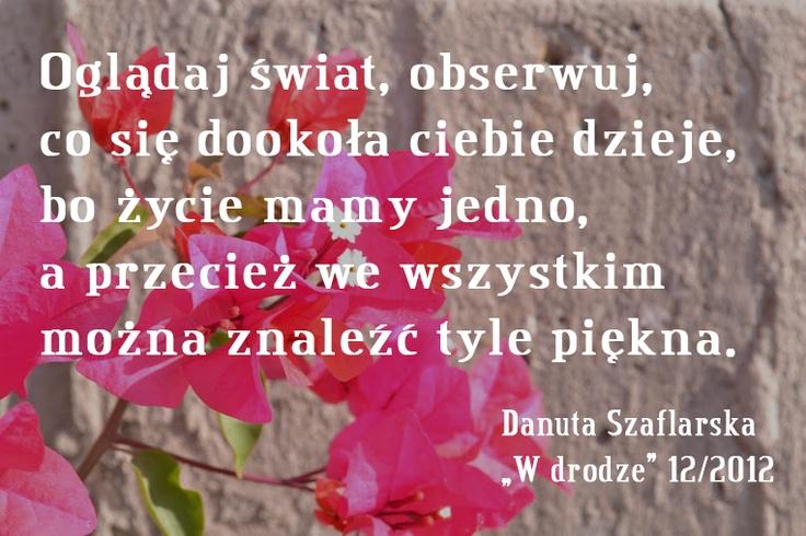 Danuta Szaflarska o walce z pośpiechem #cytat #Wdrodze