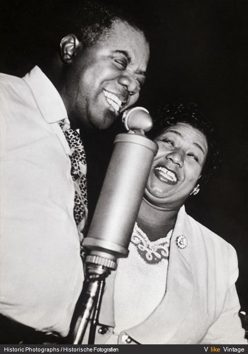 Louis Armstrong and Ella Fitzgerald, my two favorite jazz legends