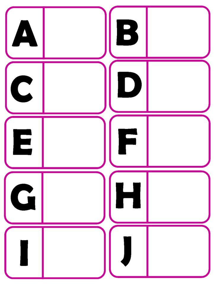 Joguinho de correspondência entre imagem e letra. Pode ser jogado individualmente.  Pode ser usado como bingo para pequenos grupos. Cada cr...