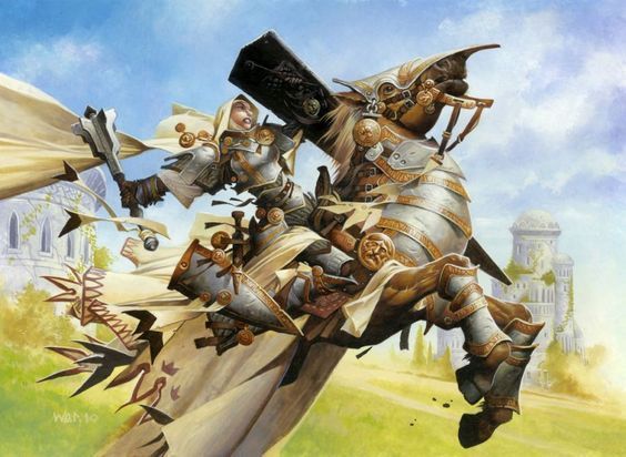 Paladin mounted on its Noble Steed, by Wayne Reyonlds