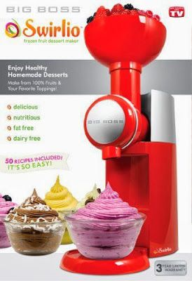 Swirlio Frozen Fruit Dessert Maker - By Big Boss