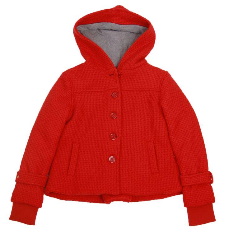 Jackets & Coats : peacoat red tweed