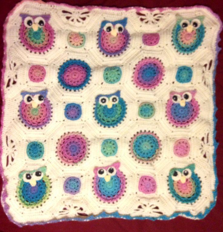 Crochet Pattern Owl Baby Blanket Dancox For