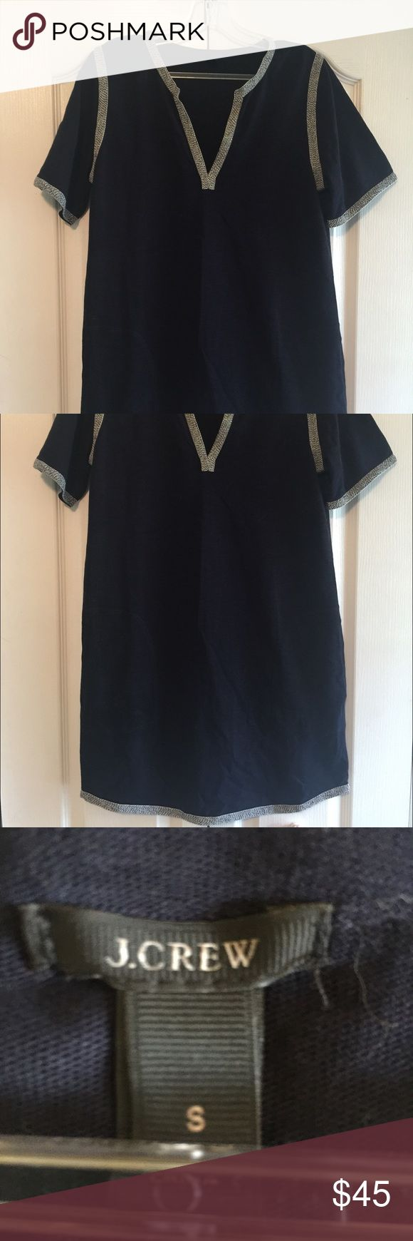 JCrew Navy Mini dress This super cute navy mini dress is not only very comfortable, but also has pockets. No signs of wear, pulling, or stains. J. Crew Dresses Mini