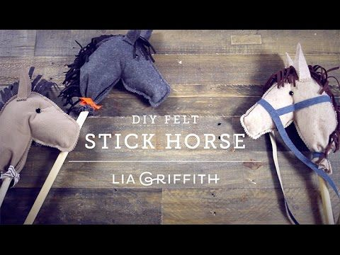 Felt Hobby Horse Video Tutorial - Lia Griffith