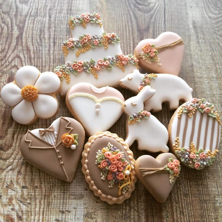 garden wedding cookies & 368 best Cookies-Wedding/Anniversary images on Pinterest | Decorated ...