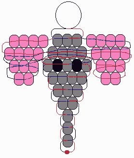 pony bead patterns | elephant 2