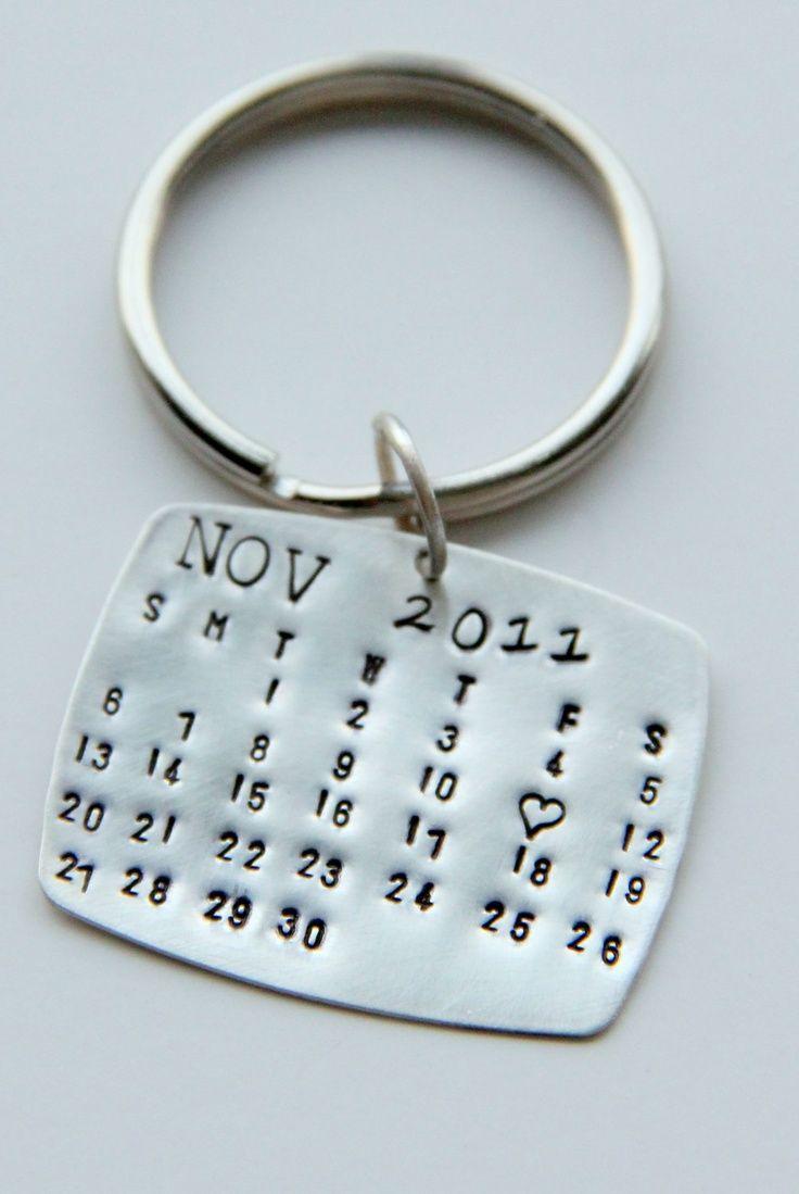 llavero calendario para recoradar una fecha especial.