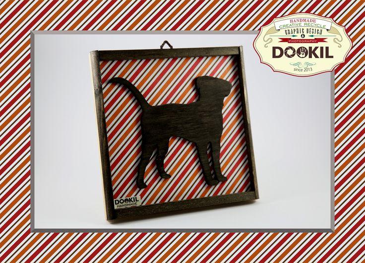 """ღ Quadretto handmade """"Silhouette Dog scrollsaw"""", realizzati in multistrato di pioppo, scarti di legno samba ed abete e texture in carta riciclata. www.facebook.com/DookilHandmade"""