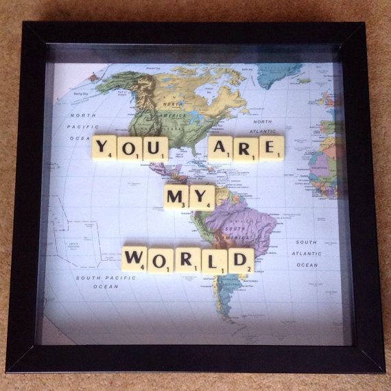 Scrabble Art Romantic Gift Wall Art Home by HeartfeltAndUnique