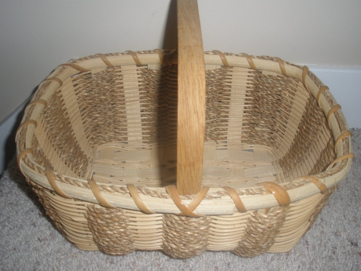 Basket Weaving Handles : Seagrass basket with square handle via etsy