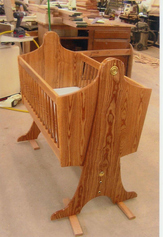 Wooden crib for sale in cebu - Swinging Baby Cradle