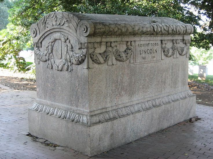 Robert Todd Lincoln's sarcophagus at Arlington National Cemetery