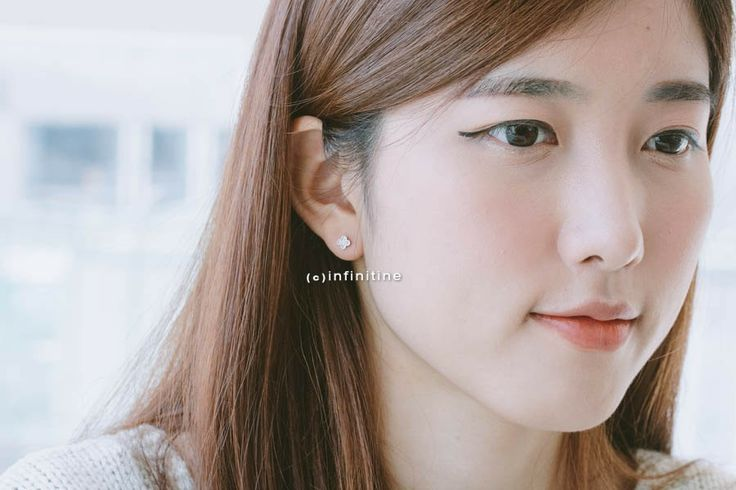 mini monogram earrings,E033R