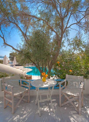 "From your colourful and stylish studio, apartment or suite to the relaxing and soothing premises of #MarilliaVillage close to the beach of #Perivolos in Santorini! Relax by the swimming pool, let the children play at the specially designed pool, feel rejuvenated with the ""bubbles"" of the outdoor, large whirlpool and order a light snack or a cocktail from the bar! Occasionally, BBQ nights are organized whereas at the gardens you can enjoy moments of relaxation at the shadows of the palm…"