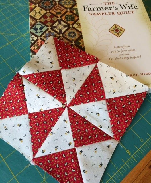 I set a goal to make 25 Farmer's Wife Quilt blocks by the end of March. I didn't even start on them until Saturday. I've been rather steady ...