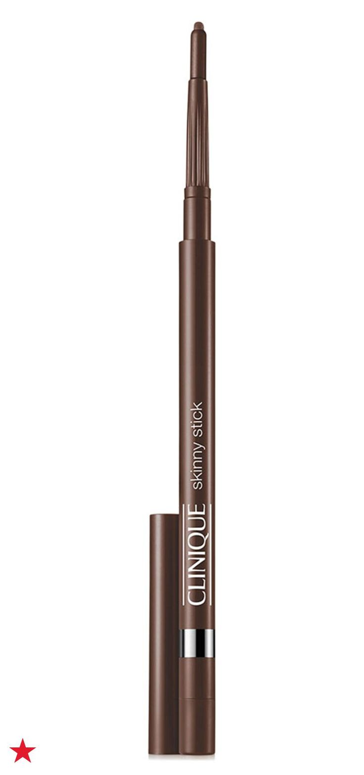 We love using Clinique Skinny Stick eyeliner to create a smoky eye look because its ultra-fine tip is great for precision, but it's formula is still easy to smudge into a smoky blend. Use brown for a daytime look and black for night. Shop this eyeliner and more makeup essentials from Clinique at Macy's.