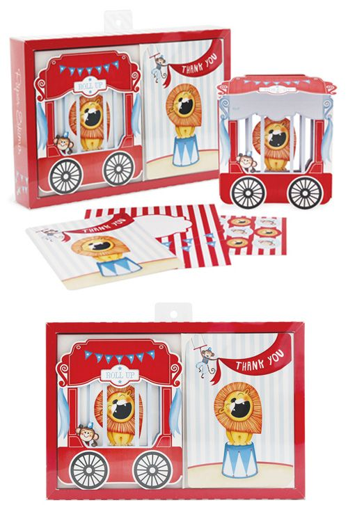 Circus Party Invitation Kit - Invites & Thank you's from Paper Eskimo.  Available at www.hootinvitations.com.au  #circuspartyinvitation  #circustheme