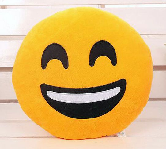 nice Smiling Face with Open Mouth and Smiling Eyes Emoji Pillow