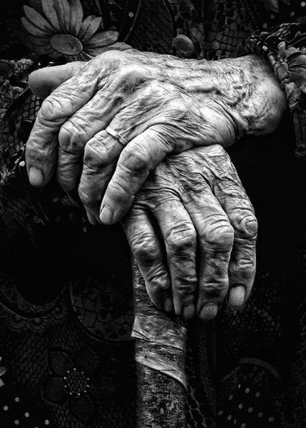 weathered hands