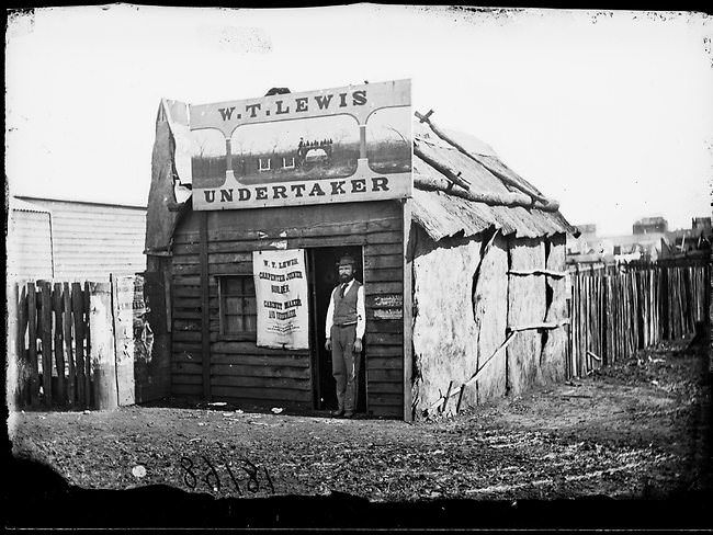 Gold rush (2)Check out these old back-and-white photos of Australia during the 1870 gold rush. These mostly show the town's inhabitants standing proudly in the dusty town or right in front of their establishments — like a butcher shop and an undertaker's shop — and staring right into the lens. The pictures are beautifully lit, and they perfectly capture an era long gone.