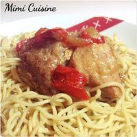 Sauté de porc à l'asiatique Recette Cookeo  Pour 4 personnes Ingrédients : 1kg de sauté de porc 2 cuillères à soupe de farine 1 oignon émincé 1 cuillère à soupe d'huile d'olive 1...
