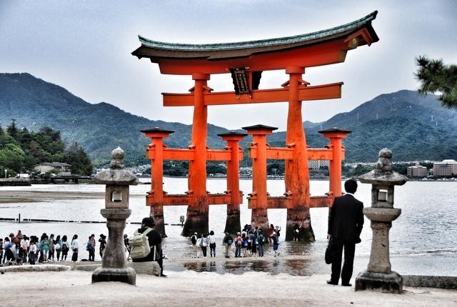 Itsukushima shrine, Hirsohima.