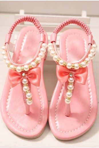 Pearl Detail Sandals for Little Girls | 3 Colors | Jane